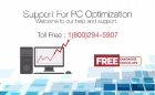 Support for PC Optimization Toll Free :