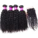 Tinashe virgin human hair curly hair bun