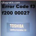 Toshiba Error Code f3 f200 0002(Fixed)