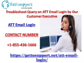 Troubleshoot Query on ATT Email Login