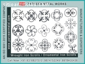 Wrought Iron Rosettes Flowers